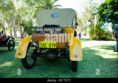 Rear view of 1914 Trumbull motor car from the USA. - Stock Image