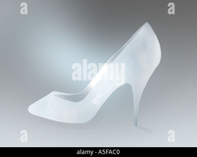 Cinderellas Glass Slipper,heels - Stock Image