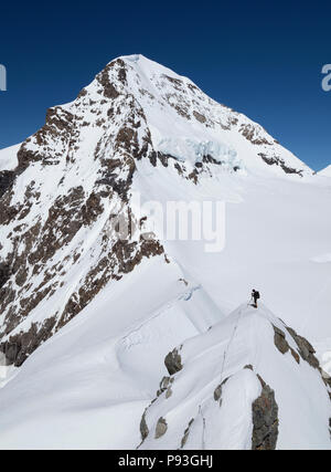 Me at the Mönch mountain(4107m) - Stock Image