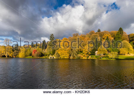 Stourhead Garden in Wiltshire UK - Stock Image