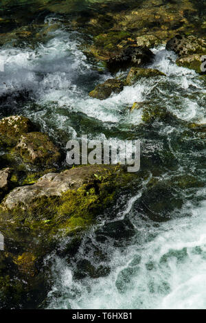 Fresh Water Of An Alpine River - Stock Image