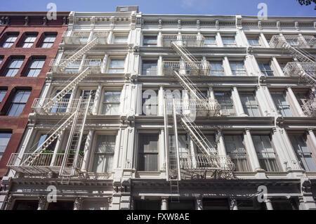 Cast Iron District,   Soho, Manhattan, New York City - Stock Image