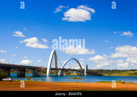 Juscelino Kubitschek Bridge Brasilia Brazil - Stock Image