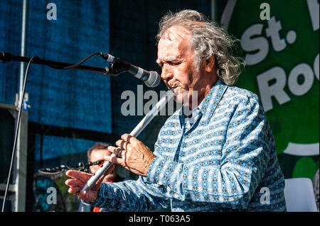 Birmingham, UK. 17th March, 2019.  Finbar Fury headlined 'St Pat Rocks', a live gig featuring Irish oriented acts after the Birmingham St. Patrick's Day parade, which drew crowds of 90,000 people. Credit: Andy Gibson/Alamy Live News. - Stock Image
