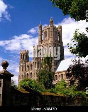 Ely Cathedral Cambridgeshire UK - Stock Image