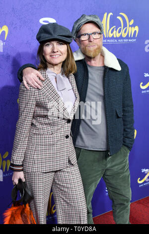 Hamburg, Deutschland. 21st Mar, 2019. Heiko Volz Author with Sibylle Mayer at the Musical Premiere Disney's Aladdin at the Stage Apollo Theater on Thursday, March 21, 1919 in Stuttgart | usage worldwide Credit: dpa/Alamy Live News - Stock Image