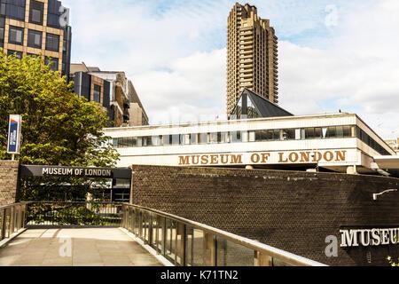 Museum Of London, Museum Of London building, Museum Of London sign, Museum Of London exterior, Museum Of London entrance, Museums London UK England - Stock Image