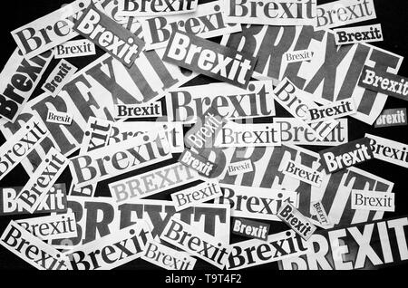 The word Brexit in newspaper style - Stock Image