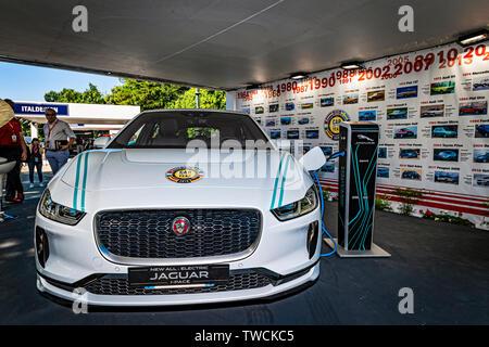 Piedmont Turin - Turin auto show 2019  - Valentino park -Jaguat Electric Car - Stock Image