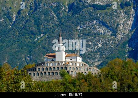 Church of St. Anthony, Kobarid, Isonzo, Soca Valley, Slovenia - Stock Image