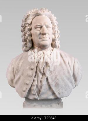 Johann Sebastian Bach Marble bust by Carl Seffner. J S Bach German composer. - Stock Image