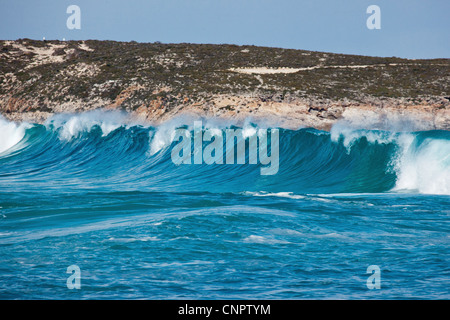 Waves Greenly Beach. Eyre Peninsula. South Australia. - Stock Image