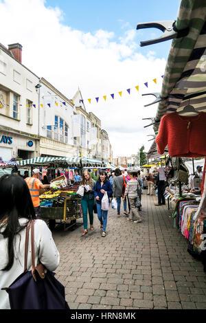 Loughborough market. - Stock Image