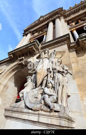 Sculpture outside the entrance to the Opera Garnier, Paris - Stock Image