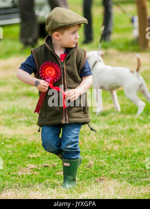 Holmesfield, Chesterfield, Derbyshire, UK.  20th August 2017.  The Barlow Hunt Annual Terrier, Lurcher & Family Dog Show at the hunt kennels was enjoyed by a number of supports and followers.  With the Family Dog Show being especially popular.   Credit:  Matt Limb OBE/Alamy Live News - Stock Image