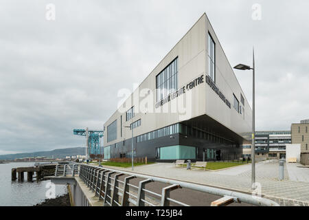 Clydebank Leisure Centre, Queen's Quay, Clydebank, Scotland, UK - Stock Image