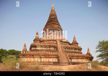 Stupa near Buledi temple, Old Bagan village area, Mandalay region, Myanmar, Asia - Stock Image