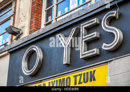 Old Foyles bookshop Charing Cross Road - Stock Image