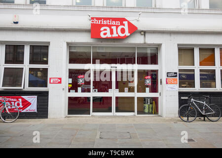 Christian Aid headquarters, Lower Marsh, London, Lambeth, SE1, UK - Stock Image