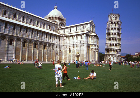 Leaning Tower of Pisa Italy - Stock Image