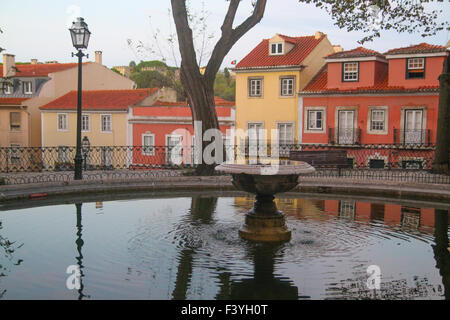 ​Lisbon, Portugal, 6 October, 2015. A fountain at Jardim Augusto Gil in Lisbon. Credit: David Mbiyu/ Alamy Live - Stock Image