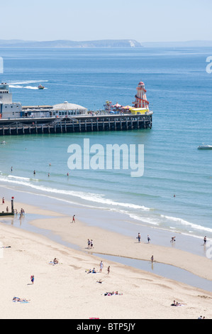Bournemouth Beach, Pier, Dorset, UK. - Stock Image