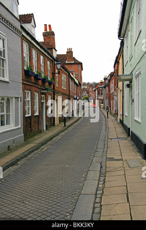 Period Houses in Canon Street, Winchester, Hampshire, UK - Stock Image