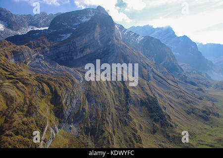 Mountain in the Swiss Alps, Vaude, Switzerland - Stock Image