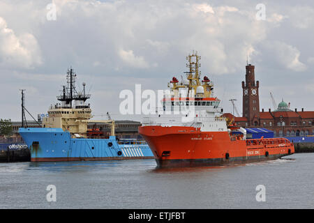 Normand Atlantic & Blue Aries in Cuxhaven - Stock Image