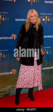 London, United Kingdom. 16 January 2019.  Gaby Roslin arrives for the red carpet premiere of Cirque Du Soleil's 'Totem' held at The Royal Albert Hall. Credit: Peter Manning/Alamy Live News - Stock Image