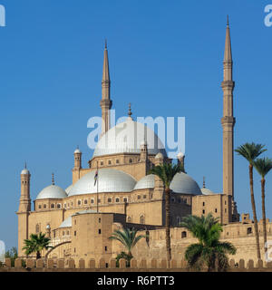 Ottoman style Great Mosque of Muhammad Ali Pasha (Alabaster Mosque), situated in the Citadel of Cairo, commissioned by Muhammad Ali Pasha - Stock Image