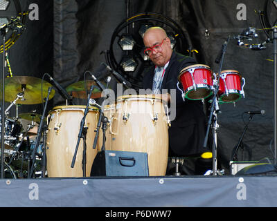 Montreal, Canada. 6/29/2018 . . Haracio 'El Negro' Hernandez  at the Montreal International Jazz Festival. Credit: richard prudhomme/Alamy Live News - Stock Image