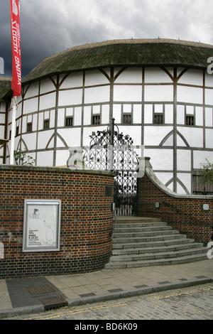 Shakespeare's Globe Theatre, South Bank, London, UK - Stock Image
