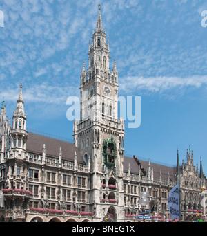 New town hall in Marienplatz, Munich. Germany. - Stock Image