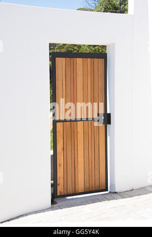 Doorway of a modern house - Stock Image