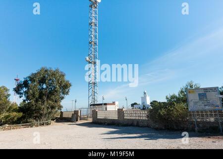 Santa Pola Lighthouse, near Alicante, Spain - Stock Image