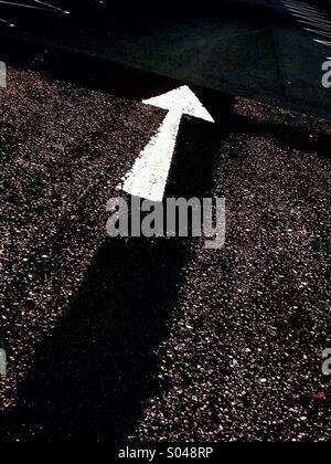 Road Marking Arrow - Stock Image