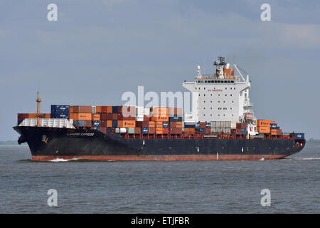 Lahore Express passing Cuxhaven - Stock Image