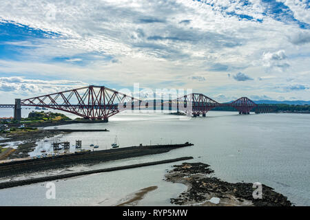 The Forth Rail bridge from North Queensferry, Fife, Scotland, UK - Stock Image