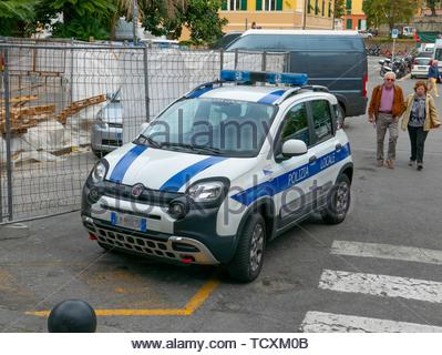 Fiat Panda cross police car, Italy - Stock Image