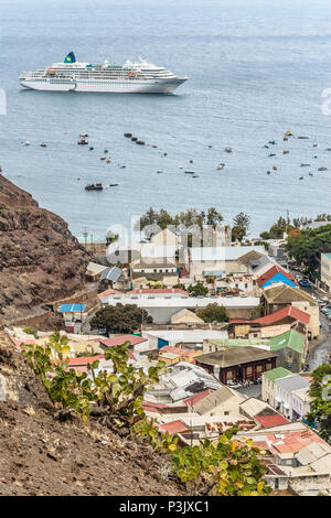 Jamestown the capital St.Helena Island at the African Westcoast - Stock Image