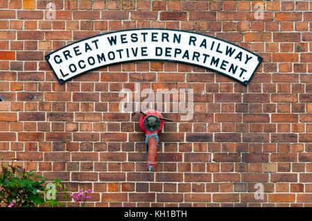 Locomotive Department sign, Didcot Railway Centre, United Kingdom - Stock Image