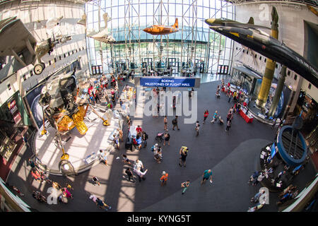 Visitors explore Smithsonian Institution's National Air and Space Museum's Mars Day, an annual event celebrating - Stock Image