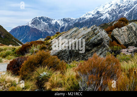 Rocks and Mountain landscape - Stock Image