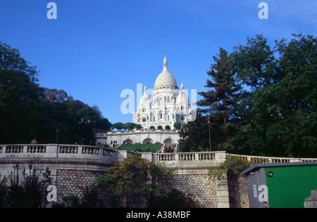 Sacre Couer, Montmartre, Paris, France - Stock Image