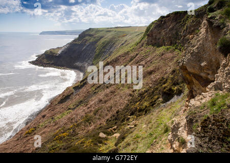 UK, England, Yorkshire, Staithes, Rosedale Cliffs - Stock Image