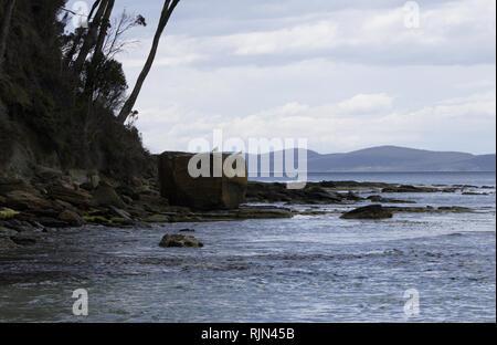 Coal Point Beach at Adventure Bay Coastal Reserve on Bruny Island, Tasmania - Stock Image