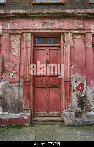 princelot street doorway old london doorway - Stock Image