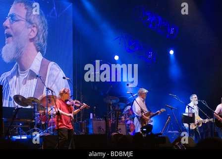 Yusuf Islam Cat Stevens performing at the Fairport Cropredy Convention music festival 2009 This was the first music - Stock Image