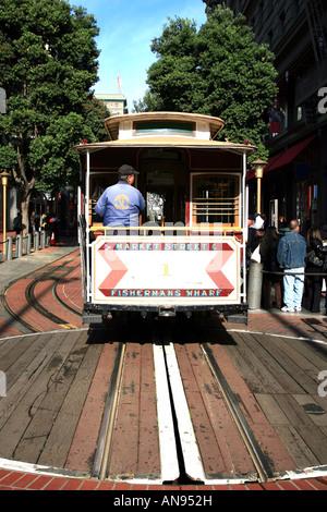 Cable car terminus, San Francisco, CA, USA - Stock Image